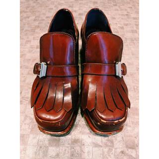 プラダ(PRADA)のPRADA プラダ 希少 レザー タッセル ローファー(ローファー/革靴)
