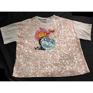 ミュウミュウ(miumiu)の極美品本物 中古miumiuスパンコールTシャツ(Tシャツ(半袖/袖なし))