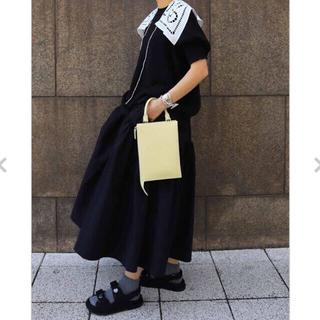 machatt【新品】スカーフ襟付ニットプルオーバー(シャツ/ブラウス(半袖/袖なし))