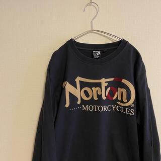 ノートン(Norton)のNorton ノートン ロンT Tシャツ オートバイ バイク モーターサイクル(Tシャツ/カットソー(七分/長袖))