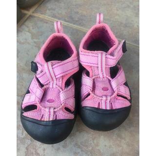 キーン(KEEN)のkeen キッズ サンダル キーン 10cm 5 kids ベビー 靴 ピンク(サンダル)