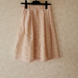 オペークドットクリップ(OPAQUE.CLIP)のOPAQUE .CLIP 膝丈シースルースカート(ひざ丈スカート)
