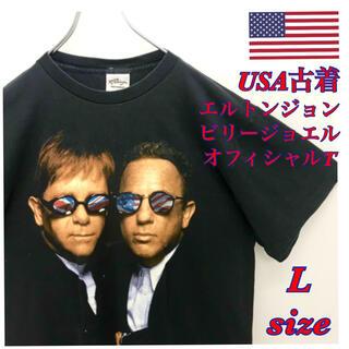 エルトンジョン ビリージョエル L Tシャツ オフィシャル 古着 バンドT(Tシャツ/カットソー(半袖/袖なし))