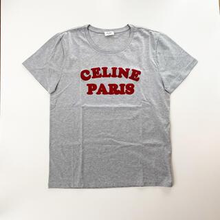 セリーヌ(celine)のセリーヌ CELINE ロゴ Tシャツ グレー コットン レディース  メンズ(Tシャツ/カットソー(半袖/袖なし))