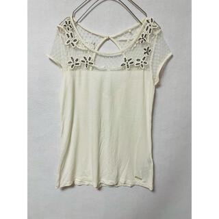 ゲス(GUESS)のguess デコルテシースルー Tシャツ カットソー(Tシャツ(半袖/袖なし))
