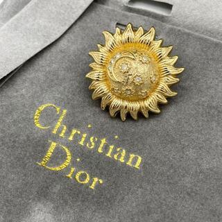 クリスチャンディオール(Christian Dior)の【超希少】クリスチャンディオール ピンブローチ ゴールド 月 太陽 Q21(ブローチ/コサージュ)