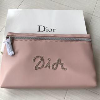 ディオール(Dior)のディオール Dior ポーチ クラッチ ピンク ノベルティ 非売品 ロゴ  新品(ポーチ)