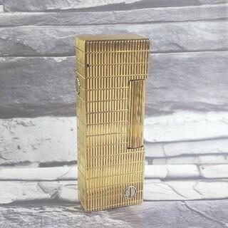 ダンヒル(Dunhill)のダンヒル 3 ライター 格子柄ゴールド ローラガス ダンヒルライター(タバコグッズ)