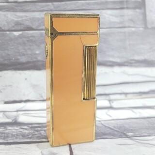 ダンヒル(Dunhill)のダンヒル 5 ライター ペールオレンジ ローラガス ダンヒルライター(タバコグッズ)