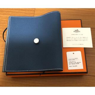 Hermes - 新品 エルメス ブックカバー 手帳カバー ネイビー 青 紺