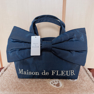 メゾンドフルール(Maison de FLEUR)の【新品.タグ付き】♡メゾンドフルール♡ビッグリボントートバッグ♡(トートバッグ)