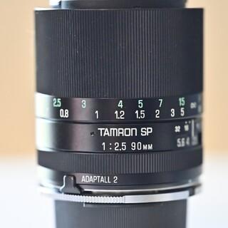 タムロン(TAMRON)の銘玉TAMRON SP90mm f2.5 52Bアダプトール2  F、Kマウント(レンズ(単焦点))