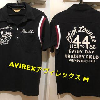 アヴィレックス(AVIREX)のMサイズ!AVIREX/アヴィレックス古着半袖ボーリングポロシャツ ステッチ刺繍(ポロシャツ)