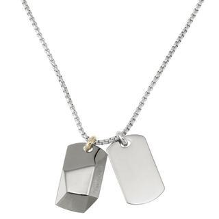 ディーゼル(DIESEL)のディーゼル DX1143040 ダブル プレート ドッグタグ ネックレス (ネックレス)