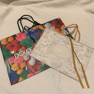 ドルチェアンドガッバーナ(DOLCE&GABBANA)の【DOLCE&GABBNA】レア 限定紙袋2枚組み(ショップ袋)