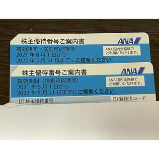 ANA 優待券 2枚(航空券)