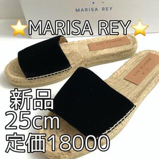 マリサレイ(MARISA REY)の7038⭐️MARISA REY⭐️マリサレイ サンダル ブラック⭐️新品38(サンダル)