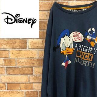 ディズニー(Disney)の☆ディズニー☆ ドナルドダック プリントロンT ビッグサイズ 古着(Tシャツ/カットソー(七分/長袖))
