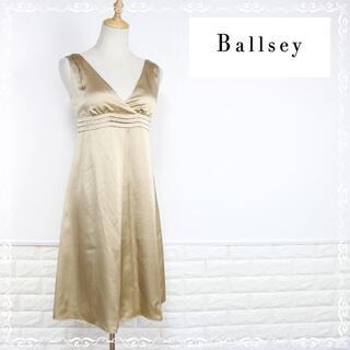 ボールジィ(Ballsey)のボールジー ノースリーブ ワンピース シルク100% 絹 ひざ丈 36 S (ひざ丈ワンピース)