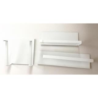 ヤマゼン(山善)のtower 自立式メッシュパネルの専用パーツ ペーパー、まな板、布巾ホルダー(収納/キッチン雑貨)
