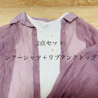 レイジブルー(RAGEBLUE)の【中古】rageblueシアーシャツ+リブタンクトップセット(シャツ/ブラウス(長袖/七分))