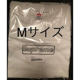シュプリーム(Supreme)のSupreme KAWS Chalk Logo Tee Mサイズ 白(Tシャツ/カットソー(半袖/袖なし))