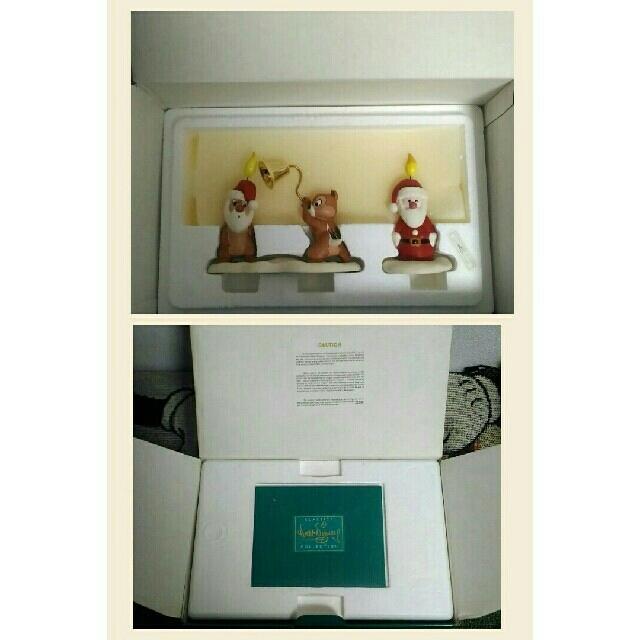 チップ&デール(チップアンドデール)のWDCC チップとデール クリスマス サンタ フィギュア 陶器 置物 ディズニー エンタメ/ホビーのおもちゃ/ぬいぐるみ(キャラクターグッズ)の商品写真