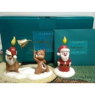 チップアンドデール(チップ&デール)のWDCC チップとデール クリスマス サンタ フィギュア 陶器 置物 ディズニー(キャラクターグッズ)