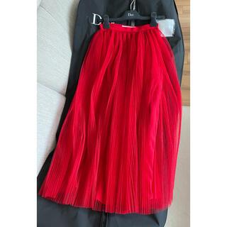 クリスチャンディオール(Christian Dior)のクリスチャンディオール チュール スカート(ひざ丈スカート)