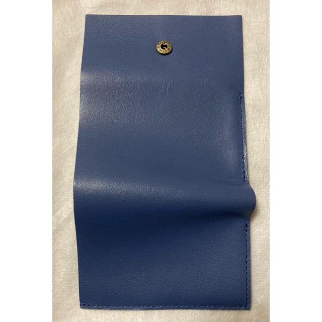 m+(エムピウ)の財布 ゴートレザー ブルー ストラッチョ ◆ エムピウ m+  メンズのファッション小物(折り財布)の商品写真