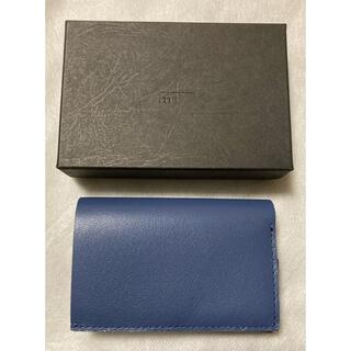 m+ - 財布 ゴートレザー ブルー ストラッチョ ◆ エムピウ m+