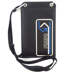 プラダ(PRADA)のプラダ 携帯電話ケース美品  - レザー(モバイルケース/カバー)