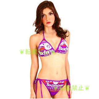 バドワイザーバドガールビキニ 紫 コスプレ水着レースクイーンセクキャバ奥様彼女に(衣装一式)