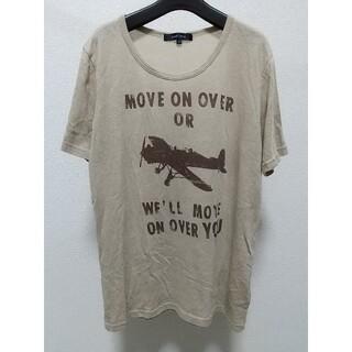 アバハウス(ABAHOUSE)のABAHOUSE プリント 半袖Tシャツ サイズ3 ベージュ アバハウス 古着屋(Tシャツ/カットソー(半袖/袖なし))