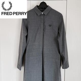 フレッドペリー(FRED PERRY)の【美品】FRED PERRY フレッドペリー シャツ ワンピース(ひざ丈ワンピース)