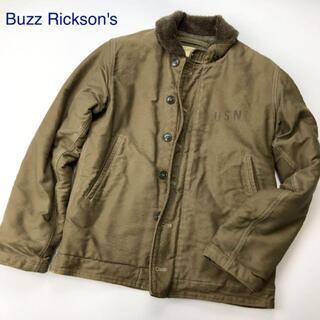 バズリクソンズ(Buzz Rickson's)の訳あり Buzz Rickson's N-1 デッキジャケット カーキ(ミリタリージャケット)