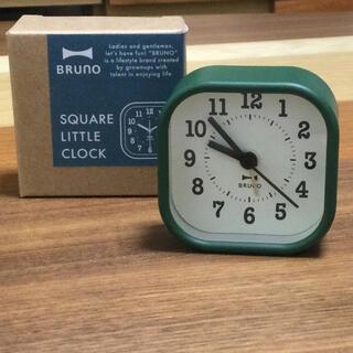 イデアインターナショナル(I.D.E.A international)のBruno  スクエア リトル クロック(グリーン)(置時計)