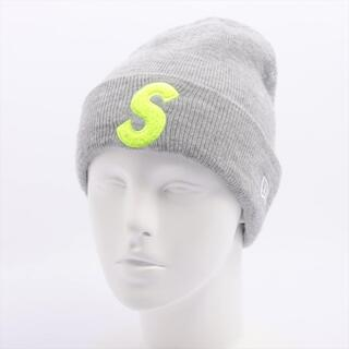 シュプリーム(Supreme)のシュプリーム×ニューエラ  アクリル  グレー ユニセックス ニットキャッ(ニット帽/ビーニー)