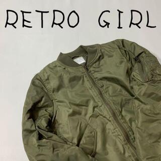 レトロガール(RETRO GIRL)のRETROGIRL レトロガール ミリタリージャケット サイズM グリーン 緑(ブルゾン)