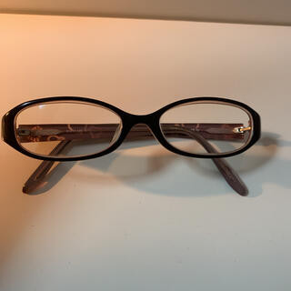 ジルスチュアート(JILLSTUART)のジルスチュアート メガネ 黒縁 ピンク ハート jillstuart 眼鏡(サングラス/メガネ)