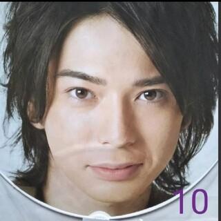 アラシ(嵐)のNo.10  松本潤  ジャンボうちわ【2007-8 カウコン】(アイドルグッズ)