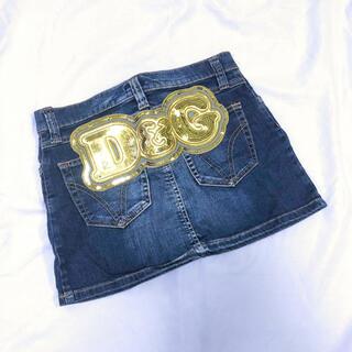 ドルチェアンドガッバーナ(DOLCE&GABBANA)のレア!D&G デニムスカート■ 美品 36ドルガバロゴ(ミニスカート)