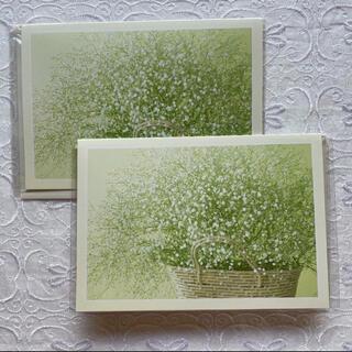 サンリオ(サンリオ)のサンリオ かすみ草 グリーティングカード 2組セット(カード/レター/ラッピング)