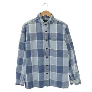 ゴーヘンプ(GO HEMP)のゴーヘンプ ヘビーオンス ネルシャツ シャツ 長袖 チェック 2 ライトブルー(シャツ)