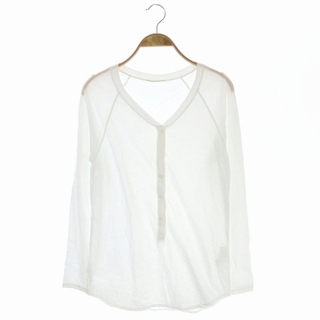 ドゥーズィエムクラス(DEUXIEME CLASSE)のドゥーズィエムクラス Tシャツ カットソー ロンT 長袖 白 ホワイト(Tシャツ(長袖/七分))