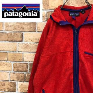 パタゴニア(patagonia)の☆パタゴニア☆USA製 フリースジャケット アウトドア 朱色 patagonia(その他)