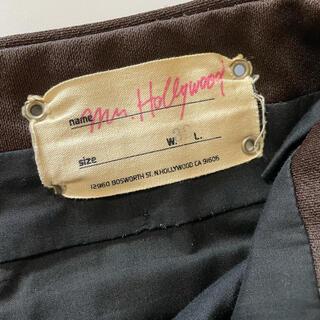 エヌハリウッド(N.HOOLYWOOD)の幻 激レア 2001年最初期 ミスターハリウッド パンツ スラックス W32(スラックス)