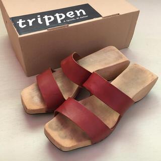 トリッペン(trippen)のTrippen サンダル ウッドソール 39 箱付き(サンダル)