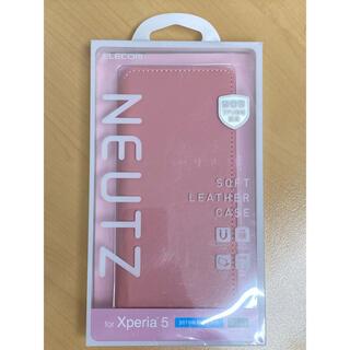 エレコム(ELECOM)のELECOM製 Xperia5用 ソフトレザーケース ピンク(その他)
