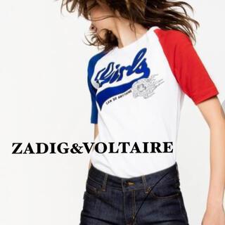 ザディグエヴォルテール(Zadig&Voltaire)の■ ZADIG&VOLTAIRE ■バイカラー スリーブ Tシャツ カットソー(Tシャツ(半袖/袖なし))